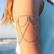 ieftine -Braț Manșetă femei Pentru femei Bijuterii de corp Pentru Zilnic Concediu Aliaj Leaf Shape Argintiu