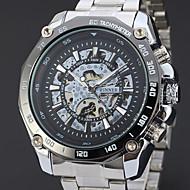 ieftine -WINNER Bărbați Ceas Schelet Ceas de Mână ceas mecanic Mecanism automat Oțel inoxidabil Argint 30 m Gravură scobită Cool Analog Lux Clasic Vintage Casual - Alb Negru