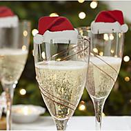 10pcs Navidad ornamentos de Navidad, Decoraciones de vacaciones 6*3.6*0.2