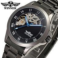 ieftine -WINNER Bărbați Ceas Elegant  Ceas de Mână ceas mecanic Mecanism automat Gravură scobită Oțel inoxidabil Bandă Lux Vintage Negru