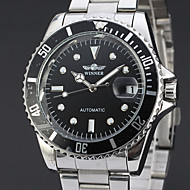 ieftine -WINNER Bărbați Ceas Elegant Ceas de Mână ceas mecanic Mecanism automat Oțel inoxidabil Argint 30 m Calendar Analog Lux Clasic Casual - Negru