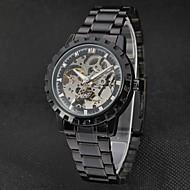 ieftine -WINNER Bărbați Ceas Elegant Ceas de Mână ceas mecanic Mecanism automat Oțel inoxidabil Negru 30 m Gravură scobită Analog Lux Vintage - Negru