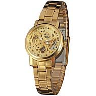 ieftine -WINNER Pentru femei Ceas Schelet Ceas de Mână ceas de aur Mecanism automat Oțel inoxidabil Argint / Auriu 30 m Gravură scobită Analog femei Vintage Casual Modă Elegant - Auriu Argintiu