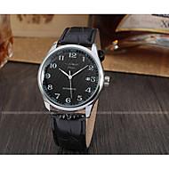 ieftine -WINNER Bărbați Ceas de Mână Mecanism automat Piele Negru 30 m Calendar Analog Vintage Casual Modă Ceas Elegant - Negru Alb / Oțel inoxidabil