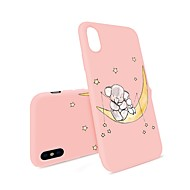 voordelige -hoesje Voor Apple iPhone X / iPhone 8 Plus / iPhone 8 Patroon Achterkant Cartoon / Olifant Zacht TPU