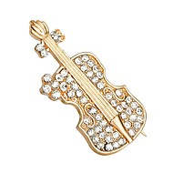 cheap -Women's Brooches Music Guitar Simple Fashion Imitation Diamond Brooch Jewelry Gold For Daily