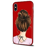 voordelige -hoesje Voor Apple iPhone X / iPhone 8 Plus / iPhone 8 Patroon Achterkant Sexy dame / Cartoon Zacht TPU