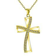 povoljno -Žene Kubični Zirconia mali dijamant Ogrlice s privjeskom Kereszt dame Klasik Ružičasto zlatno Zlato Rose Gold Ogrlice Jewelry 1 Za Dar Dnevno