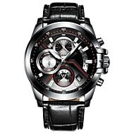 رخيصةأون -CADISEN رجالي ساعة المعصم كوارتز جلد طبيعي أسود 30 m مقاوم للماء رزنامه ساعة التوقف مماثل موضة - أسود أسود / أبيض سنتان عمر البطارية / قضية