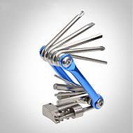 رخيصةأون -ROCKBROS أدوات دراجة متعددة متعددة الوظائف المحمول مفك البراغي إصلاح كيت قابلة للطى من أجل دراجة الطريق دراجة جبلية للجنسين ركوب الدراجة الكربون الصلب ذهبي أزرق
