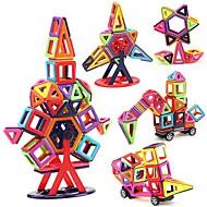 Magnetische blokken Magnetische tegels Bouwblokken 40 pcs Voertuigen Kat Automatisch transformable Ouder-kind interactie Klassiek Jongens Meisjes Speeltjes Geschenk
