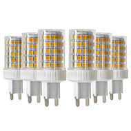 povoljno -ywxlight® 6pcs 10w 900-1000lm g9 led bi-pin svjetla 86led 2835smd visokokvalitetna keramička dimmable led žarulja AC 220-240v