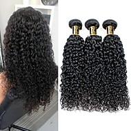 povoljno -1 paket Brazilska kosa Kinky Curly Ljudska kosa Ljudske kose plete Isprepliće ljudske kose Proširenja ljudske kose / 8A