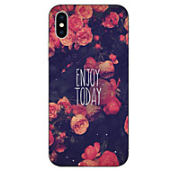 Case Kompatibilitás Apple iPhone X / iPhone 8 Plus / iPhone 8 Minta Fekete tok Szó / bölcselet / Virág Puha TPU