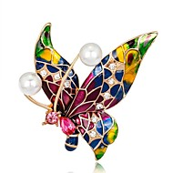 povoljno -Žene Broševi Rukav leptir Duga dame Vintage Broš Jewelry Red,Blue,Purple Za Party Dnevno