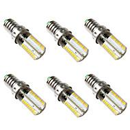 رخيصةأون -BRELONG® 6PCS 5 W أضواء LED ذرة 500 lm E14 80 الخرز LED SMD 3014 أبيض دافئ أبيض 220-240 V