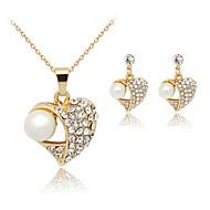 ieftine -Pentru femei Perle Seturi de bijuterii femei cercei Bijuterii Alb Pentru Petrecere Zi de Naștere Logodnă Cadou Zilnic Casual / Cercei / Coliere