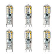 رخيصةأون -BRELONG® 6PCS 2 W أضواء LED Bi Pin 200 lm G9 14 الخرز LED SMD 2835 أبيض دافئ أبيض 220-240 V