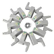 ieftine -ywxlight® pachete balamale interioare senzor condus sub dulapuri luminoase pentru bucatarie dulap dulap dulap lumina de noapte baterie funcționează