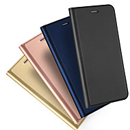 Etui Til Apple iPhone X / iPhone 8 / iPhone XS Kortholder / Flip / Magnetisk Fuldt etui Ensfarvet Hårdt PU Læder for iPhone XS / iPhone XR / iPhone XS Max