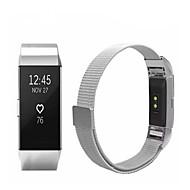 economico -Cinturino per orologio  per Fitbit Charge 2 Fitbit Cinturino sportivo / Cinturino a maglia milanese Acciaio inossidabile Custodia con cinturino a strappo