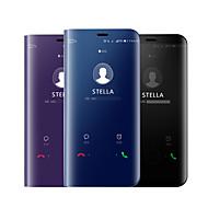 Pouzdro Uyumluluk Samsung Galaxy A9 Star / A7 (2018) Kaplama / Ayna / Flip Tam Kaplama Kılıf Solid Sert Silikon için A5(2018) / A6 (2018) / A7(2018)