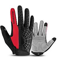 رخيصةأون -ROCKBROS اصبع كامل للجنسين دراجة نارية قفازات قماش الشاشات التي تعمل باللمس / متنفس