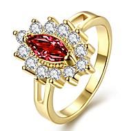 povoljno -Žene Band Ring Kubični Zirconia 1pc Zlato Rose Gold Pozlaćeni Geometric Shape dame Moda Bling Bling Dnevno Kamado roštilj Jewelry simuliran Cvijet Cool