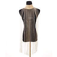 ieftine -Pentru femei Coliere Choker Guler Franjuri Lung Declarație femei Vintage Diamant Aliaj Auriu Argintiu 28 cm Coliere Bijuterii 1 buc Pentru Petrecere Bikini