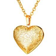 ieftine -Pentru femei Coliere cu Pandativ Lung Medalion Inimă femei Romantic Gotic Articole de ceramică Roz auriu Auriu Argintiu 55 cm Coliere Bijuterii 1 buc Pentru Cadou Zilnic