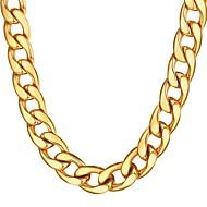 ieftine -Bărbați Lănțișoare Chainul gros Mariner Chain Hiperbolă Modă Dubai Hip Hop Teak Negru Auriu Argintiu 55 cm Coliere Bijuterii 1 buc Pentru Cadou Zilnic