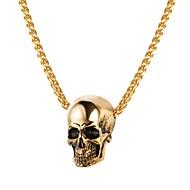 ieftine -Bărbați Coliere cu Pandativ Funie Foxtail lanț Mexican Sugar Craniu Craniu Modă satanic Teak Negru Auriu Argintiu 55 cm Coliere Bijuterii 1 buc Pentru Cadou Stradă