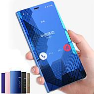 hoesje Voor Samsung Galaxy Note 9 / Note 8 / Note 5 met standaard / Spiegel / Flip Volledig hoesje Effen Hard PC