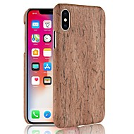 Case Kompatibilitás Apple iPhone X / iPhone 8 Plus / iPhone 8 Minta Fekete tok Fa mintázat Kemény PC