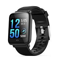 q9 vanntett sport smartwatch for android ios bluetooth hjertefrekvensmåler blodtrykksmåling berøringsskjerm kalorier brent treningsopptaker timer stoppeklokke