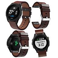 voordelige -Horlogeband voor Voorloper 945 / Forerunner 935 Garmin Leren lus Echt leer Polsband