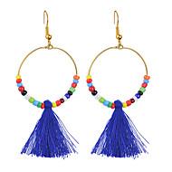 cheap -Women's Drop Earrings Tassel Ladies Unique Design Bohemian Boho Earrings Jewelry Light Blue / Light Green / Royal Blue For Wedding Party 1 Pair
