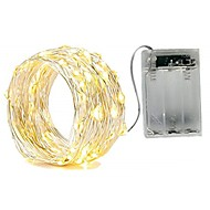 2m String Lights 20 LEDs SMD 0603 Warm White / White / Red Waterproof / Party / Decorative AA Batteries Powered 1pc