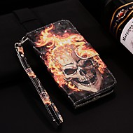 Case For Huawei Huawei P20 / Huawei P20 Pro / Huawei P20 lite Wallet / Card Holder / with Stand Full Body Cases Skull Hard PU Leather / P10 Lite