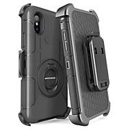 olcso -BENTOBEN Case Kompatibilitás Apple iPhone X / iPhone XS Ütésálló / Porálló / Állvánnyal Héjtok Egyszínű / Páncél Kemény PC / Silica Gel mert iPhone XS / iPhone X
