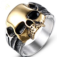 povoljno -Muškarci Midi prsten 1pc Zlato Titanium Steel Geometric Shape Vintage Party Dnevno Jewelry Vintage Style Lubanja Cool