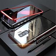 Coque Pour Samsung Galaxy S9 Plus / S9 Magnétique Coque Intégrale Couleur Pleine Dur Verre Trempé pour S9 / S9 Plus / S8 Plus