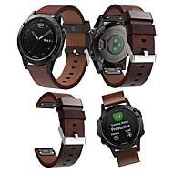 voordelige -Smartwatch band voor Fenix 5 / 5plus / Forerunner 935/945 Garmin high-end lederen lus lederen band Quickfit polsband 22mm
