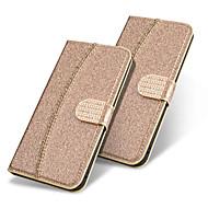מגן עבור Apple iPhone XS / iPhone XR / iPhone XS Max ארנק / מחזיק כרטיסים / נפתח-נסגר כיסוי מלא אחיד / זוהר ונוצץ קשיח עור PU