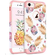 olcso -BENTOBEN Case Kompatibilitás Apple iPhone 8 / iPhone 7 Ütésálló / IMD / Minta Fekete tok Növények / Fa / Gyümölcs Puha PC / Silica Gel mert iPhone 8 / iPhone 7