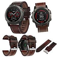 voordelige -smartwatch band voor fenix 5x / fenix 5x plus / fenix 3 garmin high-end lederen lus lederen band polsband 26mm