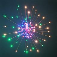رخيصةأون -HKV 0.2M أضواء سلسلة 120 المصابيح مصلحة الارصاد الجوية 0603 1 13Keys المراقب البعيد أبيض دافئ / RGB + الدافئة ضد الماء / حزب / ديكور بطاريات آ بالطاقة 1SET