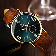 YAZOLE Men's Wrist Watch Quartz Casual Watch Leather Band Analog Casual Brown - Black Blue Dark Green One Year Battery Life / Stainless Steel / SSUO 377