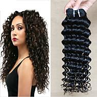 povoljno -6 paketića Vijetnamska kosa Duboko Val Ljudska kosa Netretirana  ljudske kose Ljudske kose plete Produžetak Bundle kose 8-28 inch Prirodna boja Isprepliće ljudske kose Klasični Moda 100% Djevica