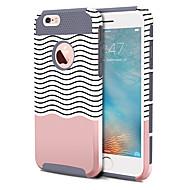 olcso -Case Kompatibilitás Apple iPhone 6s Plus / iPhone 6s / iPhone 6 Plus Ütésálló / Minta Fekete tok Vonalak / hullámok Kemény TPU / PC